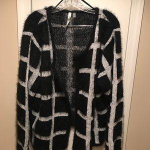 NWOT NY Collection Window Pane Fuzzy Sweater Sz 1X