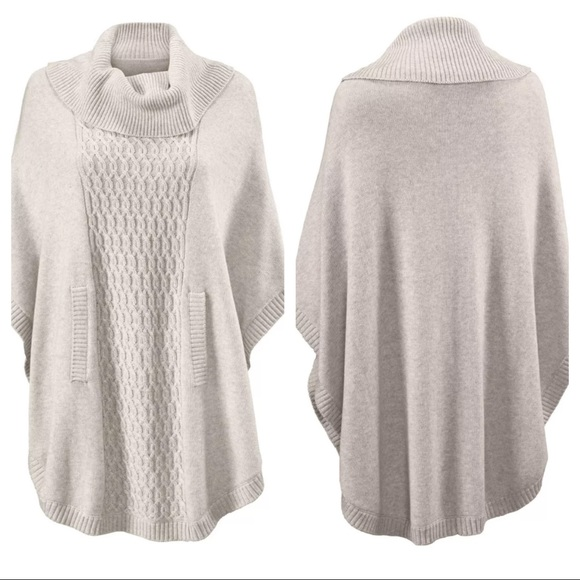 CAbi - NWOT CAbi Cowl Poncho Gray Sweater Medium #3003 from ...
