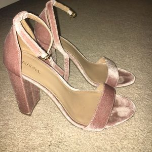 Merona pink blush velvet pumps