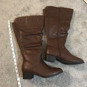 NWOT Lane Bryant Brown Tall Wide Calf Boots SZ 9W
