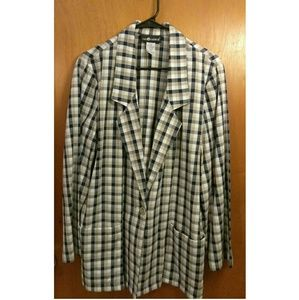 🍒Vintage Sag Harbor plaid blazer🍒