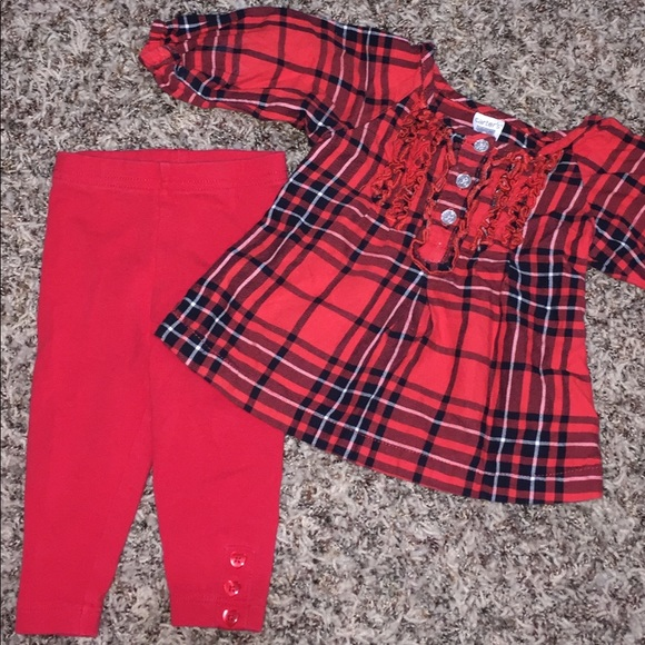 581892c9b Carter's Matching Sets | Baby Girl Christmas Outfit Red Black Plaid ...