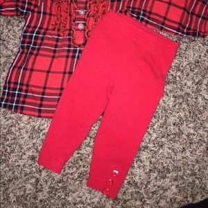 9b6e3d3ef Carter's Matching Sets - Baby girl Christmas outfit! Red black plaid shirt