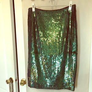 H&M sequined mermaid pencil skirt