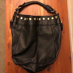 Deux Lux Black Gold Studded Hobo Bag