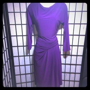 LAUREN Ralph Lauren Deep Purple Cinch Waist Dress