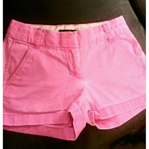 J. Crew sz 00 Hot Pink Chino Shorts