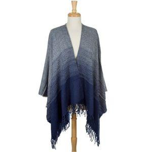 Jackets & Blazers - 🆕 Knit Blue Ombré Sweater -- One Size