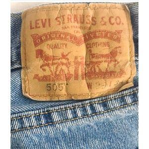 LEVIS 505 Vintage Blue Jeans 29 x 34