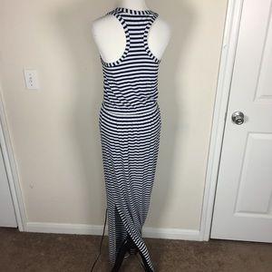 J Crew Blue Gray Maxi Dress