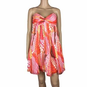 🎀SALE🎀EUC Milly strapless printed dress