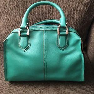London Fog Green Satchel Handbag Purse