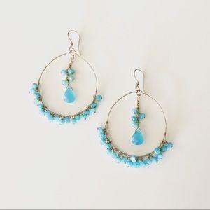 Jewelry - Hoop earrings semi precious & sterling!