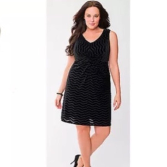 90268f1cb84b8 Lane Bryant Dresses | Black Velvet Chevron Dress | Poshmark
