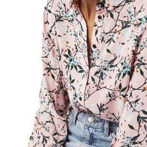 Topshop cherry blossom blouse size 6