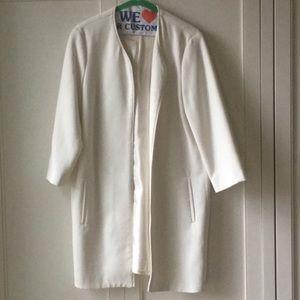 Zara Basic White Coat