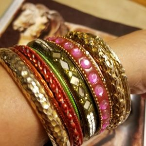 Jewelry - Eclectic bunch of bangles -12 total