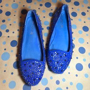 Women's Aldo Blue Spiked Flats Sz 40 / 9