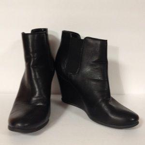 Merona Target black booties boots wedge 8