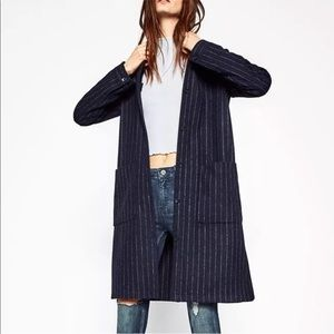 NEW Zara Pinstripe Coat / Jacket (Retail $100)