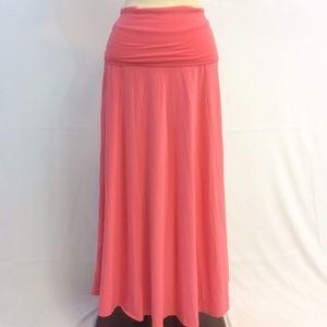 [J. Crew] Peach Maxi Skirt Flowy Med Stretchy