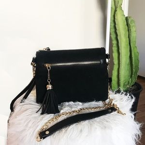 Velvet square crossbody bag