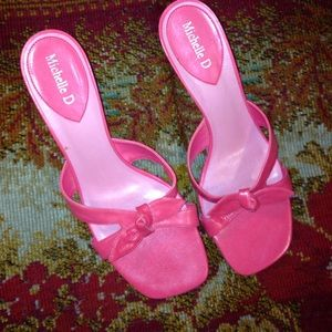 MICHELLE D PINK SIZE  9 WITH  2.5 INCH HEELS