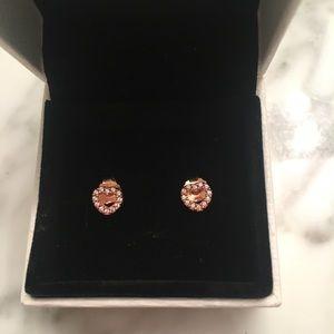 NEW PANDORA Rose Heart Earrings