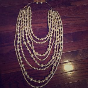 Jewelry - NWT Faux Pearl Necklace and Earring Set