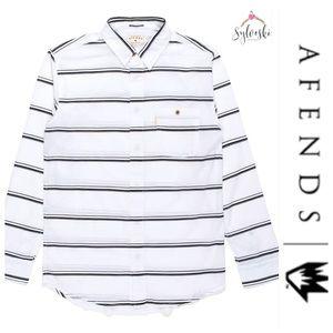 🆕Afends Ainch Long Sleeve Dress Shirt