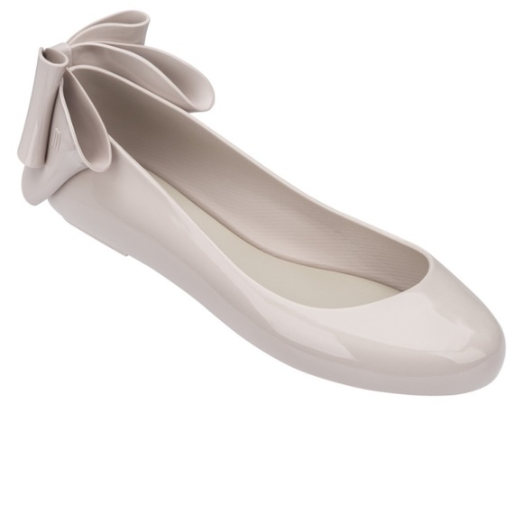 4baf5031 Shoes | Melissa Space Love Bow Back Flats In Nude | Poshmark