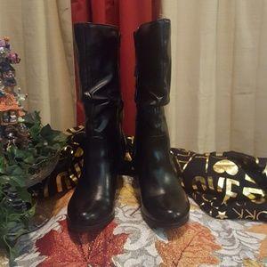 Black Slouchy Below Knee Boot