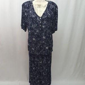 Vintage Plus Size Dress 20W