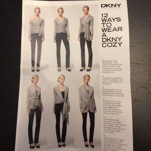 DKNY silk Cozy/multi-use sweater/scarf/wrap shirt