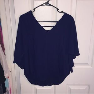 Navy blue blouse!