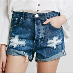 Size 25 One Teaspoon X Free People outlaw shorts