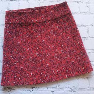 GAP Girls Velour Red Holiday Skirt Sz 7