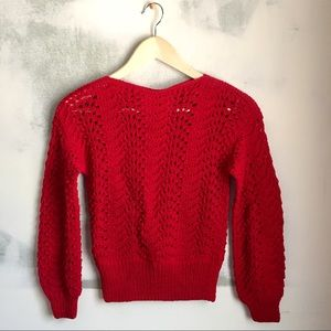 Sweaters - Hand Knitted Red Sweater