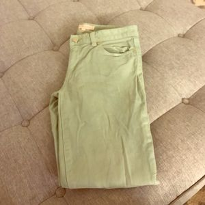 Tory Burch Green Jeans