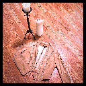 🌻Suede Vinyage jacket