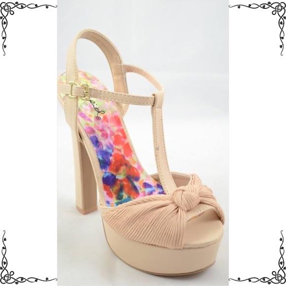 70603fc1906d Qupid Cream satin T Strap dressy ankle strap HEEL