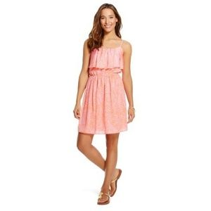Lilly Pultizer Satin Flounce Dress