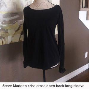 Cross cross open back long sleeved Steven Madden