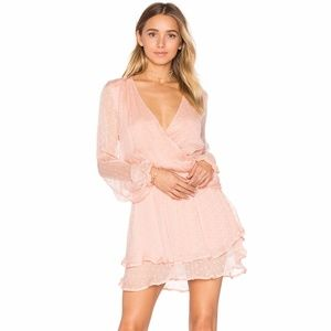 NEW Free People Dahlia pink drop waist dress