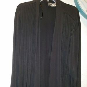 Jackets & Blazers - Women Plus Size Black Strechy 3x Cardigan