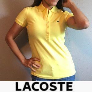 Lacoste yellow polo top