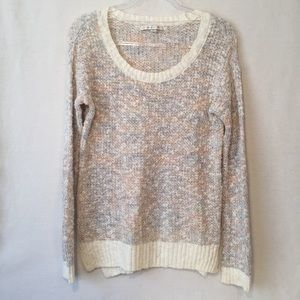 Lauren Conrad Marled Cream Knit Sweater Top