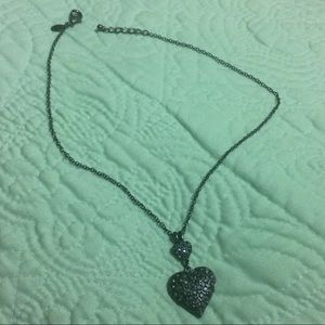 Express Black Heart Necklace