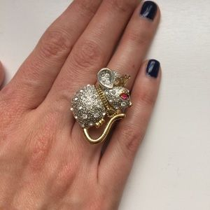 Betsey Johnson Mouse Ring - Size 7