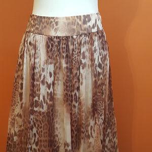 Rickie Freeman for Teri Jon Skirts - Silk Teri Jon leopard skirt